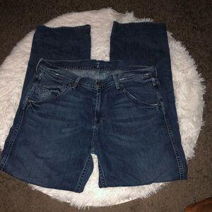 7 For All Mankind Austyn distressed Denim jeans 34